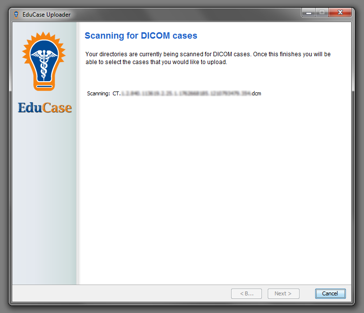 EduCase Features Uploader Tool Parsing DICOM Data