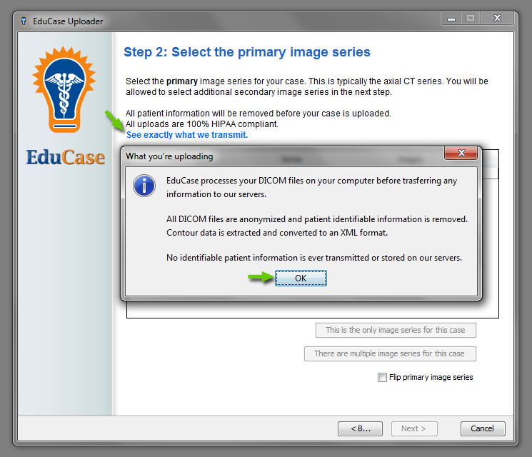 EduCase Features Uploader Tool What DICOM Tags are Uploaded