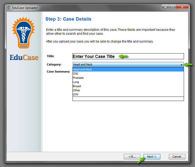 EduCase Features Uploader Tool Case Details