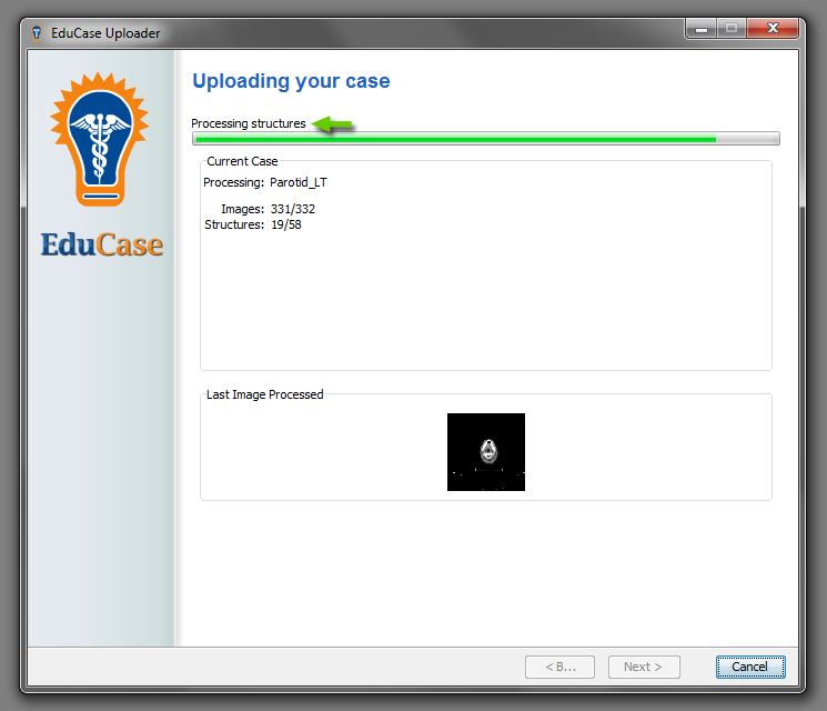 EduCase Features Uploader Tool Processing and Uploading Structures