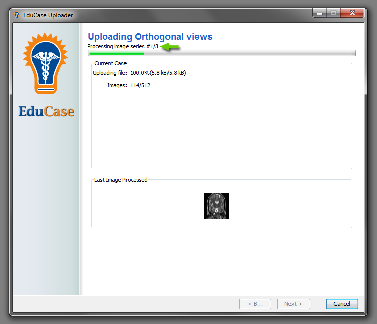 EduCase Features Uploader Tool Processing and Uploading Orthogonal Images