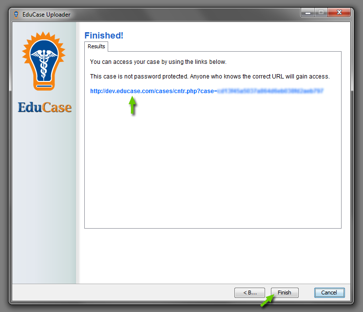 EduCase Features Uploader Tool Upload Completed